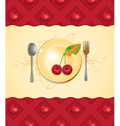 cherry menu vector image vector image