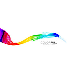 colorful gradient wave of rainbow color on a white vector image vector image