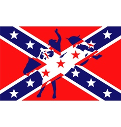 Confederate Flag vector image