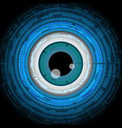 Eyeball future technology security concept vector