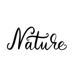 nature inscription brush vector image