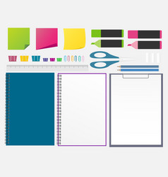 set of stationery design elements vector image