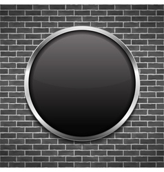 Black Round Frame vector image vector image