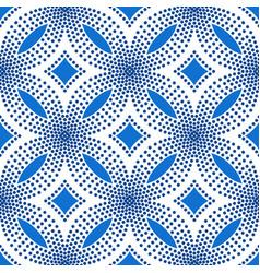 blue flower pattern halftone background vector image vector image