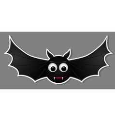 Flying bat isolated on grey background vector image vector image