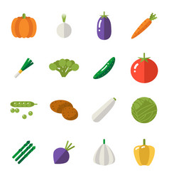 food icons set vegetables symbols healthy and vector image