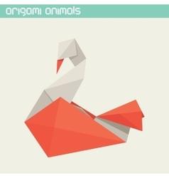 Origami isolated animal cute swan vector