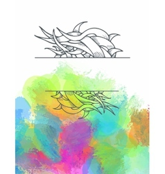 Poster templates with paint splash ribbon vector image vector image