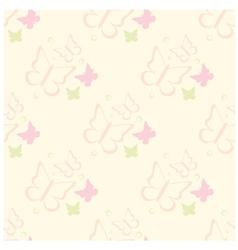 seamless butterflies pattern vector image