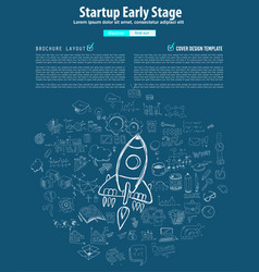 startup landing webpage or corporate design vector image
