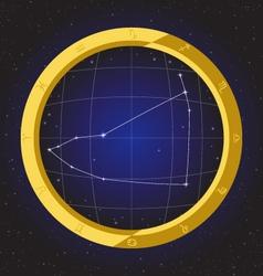 Capricorn star horoscope zodiac in fish eye vector