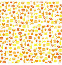 colorful pattern health food products vector image vector image