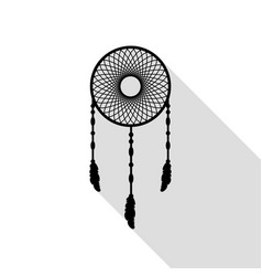 dream catcher sign black icon with flat style vector image