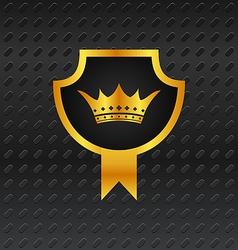 heraldic shield on titanium background - vector image vector image
