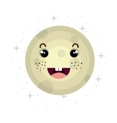 Planet of milky way galaxy isolated icon vector image