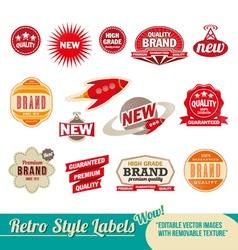 Retro label Set vector image vector image