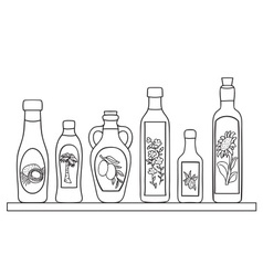 Set of natural oils vector image vector image