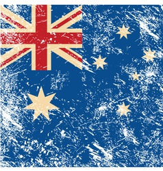 Australia retro flag vector image