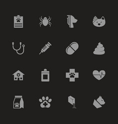 pet vet - flat icons vector image vector image