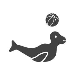 Sea Dog Performing vector image