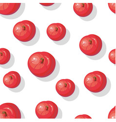 seamless pattern with apples tasty autumn fruit vector image vector image