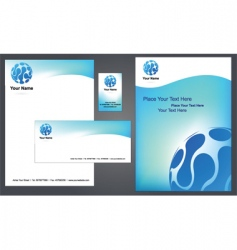 stationery template vector image vector image