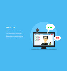 video call concept vector image vector image