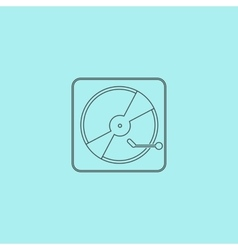 Vinyl record player vector image vector image