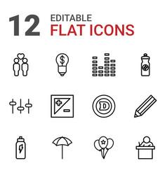 12 creative icons vector