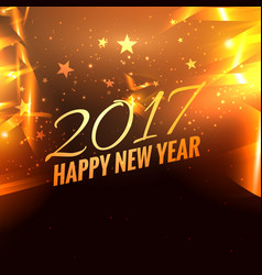 2017 party for happy new year on golden background vector