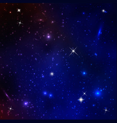 abstract cosmos background with stars vector image