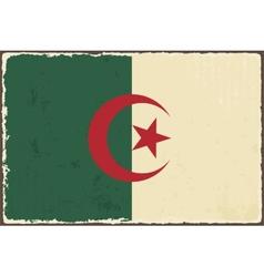 Algerian grunge flag vector