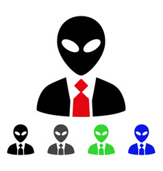 Alien boss flat icon vector