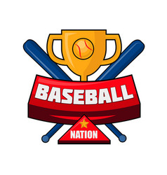 baseball nation emblem vector image
