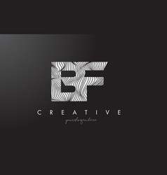 Bf b f letter logo with zebra lines texture vector