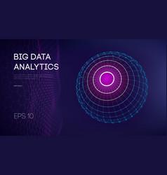 big data visualization background 3d data vector image