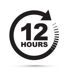 Black 12 hours vector