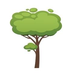Cartoon tree isolated on white vector