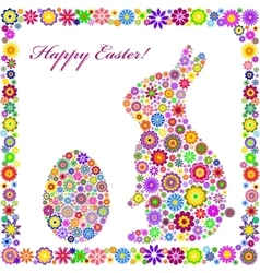 Colorful easter card on white background vector