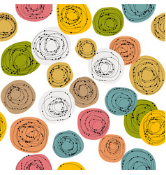 colorful seamless background with doodle circles vector image