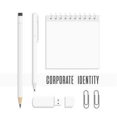corporate identity little set vector image