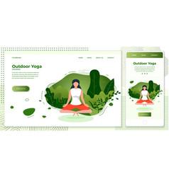 cross platform set yoga girl vector image