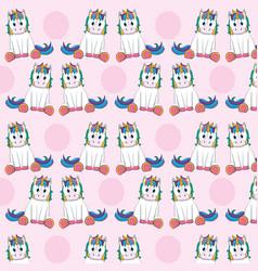 cute unicorns pattern background vector image