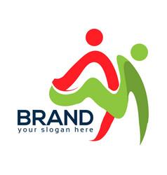dance school logo abstract people vector image