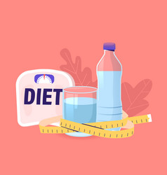 diet drink water weight loss concept fresh pure vector image