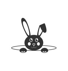 easter bunny icon vector image