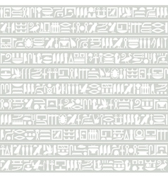 Egyptian hieroglyphic decorative horizontal vector