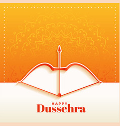 Elegant hindu happy dussehra festival greeting vector