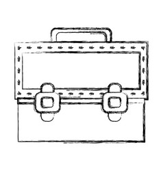 Figure elegant briefcase to save important vector