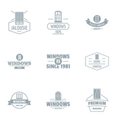 Fix window logo set simple style vector